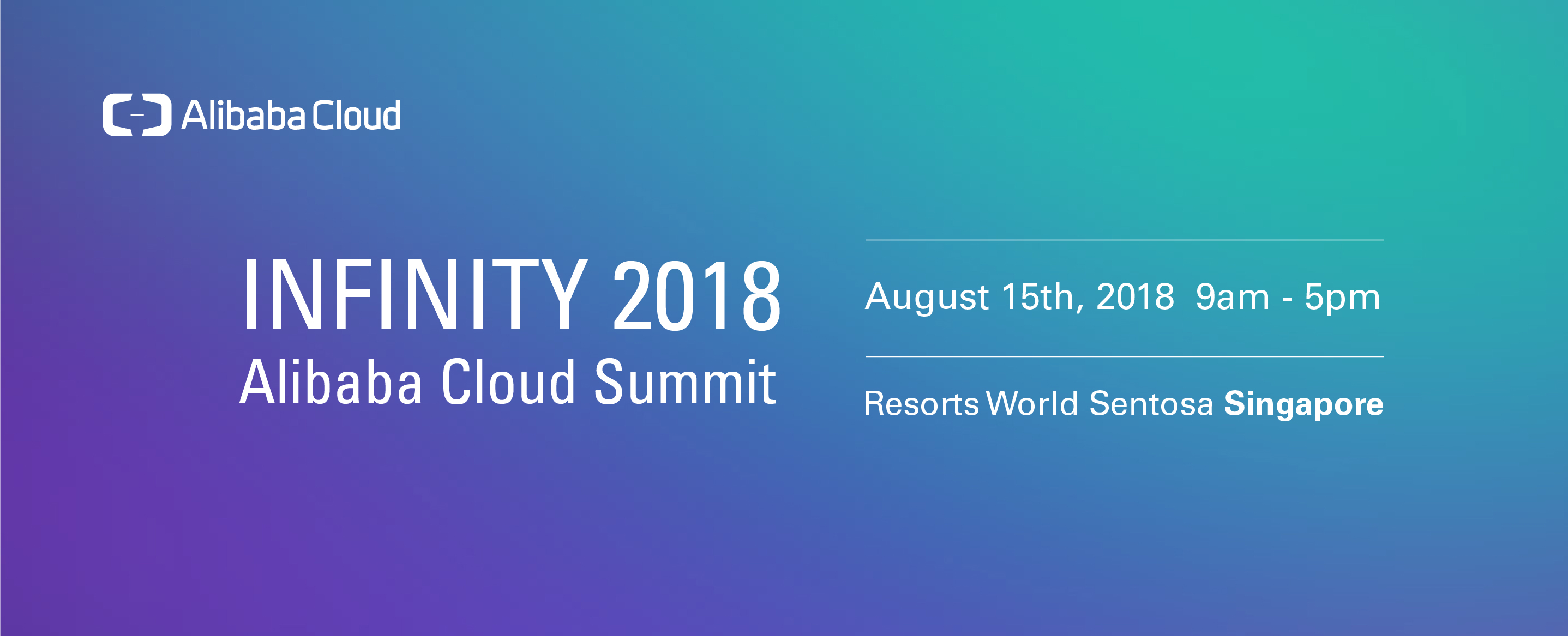 Alibaba Cloud Summit [Infinity 2018]